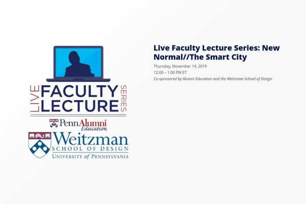 Live Lecture:  New Normal//Smart City