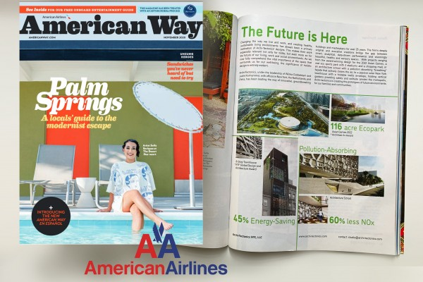 The Future is Here  -  Archi-Tectonics in American Airlines Inflight Magazine