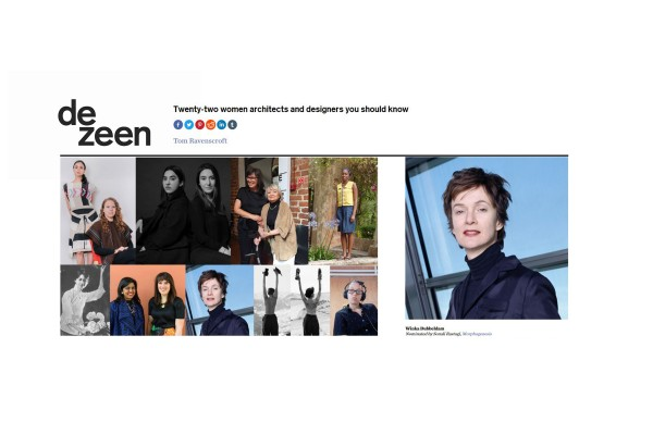 Winka nominated for Dezeen's '22 Women Architects and Designers You Should Know'